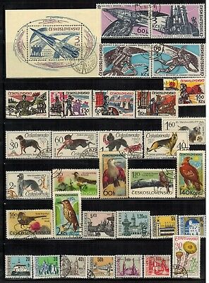 Lot of Czechoslovakia Old Stamps Used