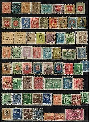 Lot of Lithuania Old Stamps MH/Used