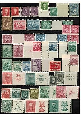 Lot of Czechoslovakia Old Stamps MNH