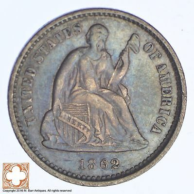 1862 Seated Liberty Silver Half Dime *XB88