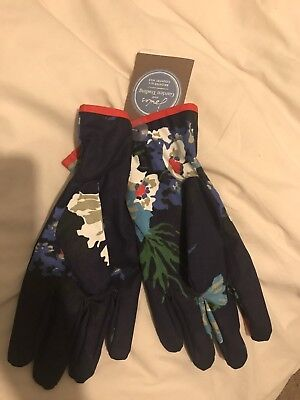 Joules Ladies Navy Gardening Gloves