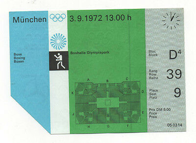 Orig.Ticket   XX.Olympic Games MÜNCHEN 1972 - BOXING // 03.09.  !!  VERY RARE