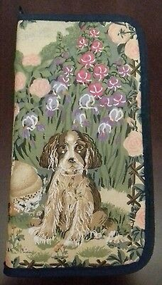 doggy design padded fabric sewing case portable