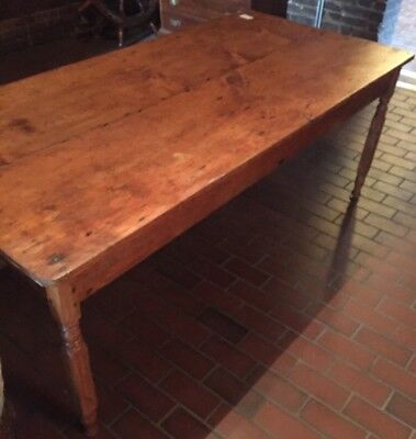 Early 19th C. American 2 board pine top farm harvest table
