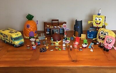 Spongebob Squarepants Massive Toy Bundle Playsets & Figures