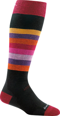 Darn Tough Women's Shortcake Over-the-Calf Cushion Sock, Black, M 1825