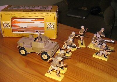 Britains Deetail Toy Soldiers WW2 British 8th Army including Scout Car