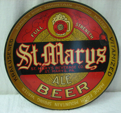 Hard to Find St Marys Beverage Co PA Kraeusened Vitamized Beer Tray