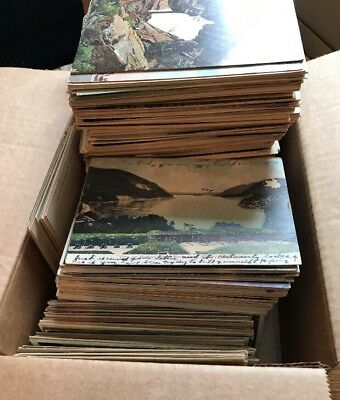Huge Mixed Lot  Of 1000+ Antique Pre-Linen And Linen Postcards