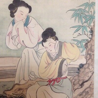 Antique/Vintage Chinese Scroll Watercolour Signed Seal Mark