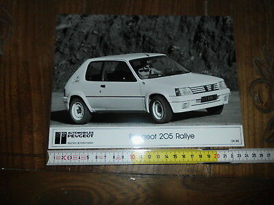 Peugeot 205 Rallye Official Presse Photo Foto Stampa Cm24X18 Rally Presentazione