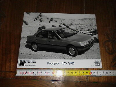 Peugeot 405 Grd  Official Presse Photo Foto Stampa Cm24X18 1988