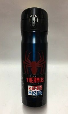 Spider-man Vacuum Insulated Stainless Steel Double Wall 16 Oz Bottle Thermos