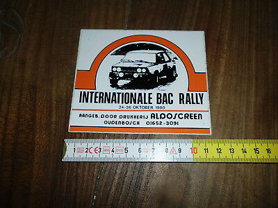Int. Bac Rally 1980 Fiat Abarth 131 Adesivo Sticker Aufkleber Autocollant Rallye
