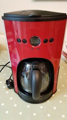 Andrew James 1100W Automatic Filter Coffee Machine Colour: Red