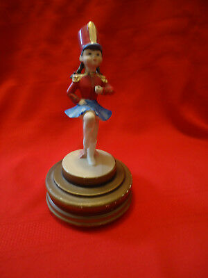 Vintage Wind Up Music Box O Schmid Bros Girl Figure Japan Unknown Date Or Song