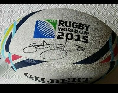 Lawrence dellagilo Signed England 2015 rugby ball with Coa