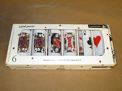 Luminarc 2oz. Shooter Card Party Card Games Shot Glasses Tequila