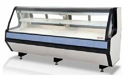 "New 98"" Butcher Fresh Meat Seafood Refrigerated Case Remote Lift Up Front Glass"