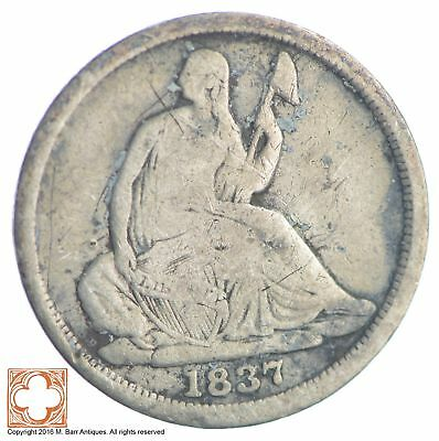 1837 Seated Liberty Silver Half Dime *XB41