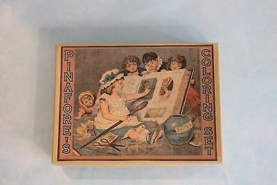 Pinafore's Coloring set doll size accessory- toy for antique German French dolls