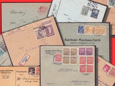 E15592 CZECHOSLOVAKIA - LOT WITH 9 CIRCULATED PC's AND COVERS (HIGH CV)