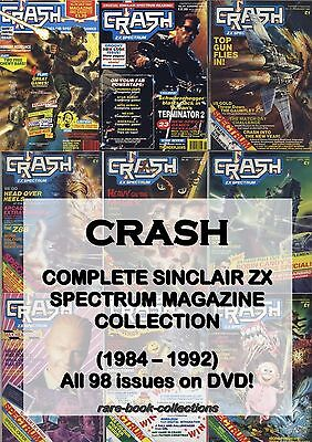 CRASH MAGAZINE - ALL 98 ISSUES ON DVD! Sinclair ZX SPECTRUM retro 80s games