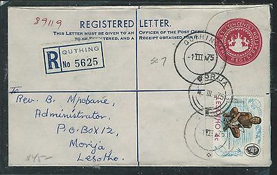 Lesotho (P1910B) 1975 10C Rle Uprated 4C Quthing To Morija