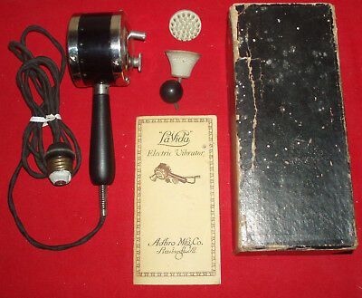 Antique Vibrator,LaVida Electric Vibrator,Complete with Attachments,Instructions