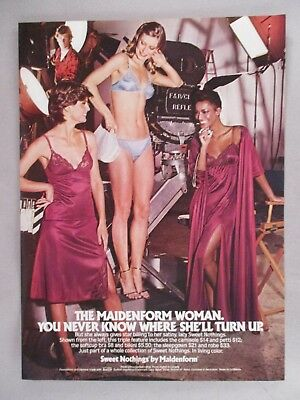"Maidenform ""Sweet Nothings"" Lingerie PRINT AD - 1981"