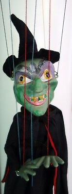 1950s Vintage Pelham Puppet WICKED WITCH Great Condition with Box Halloween