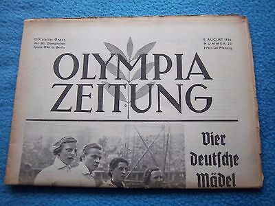 Orig.PRG / Newsletter  Olympic Games BERLIN 1936 - 09.08. / all Events  !!  RARE