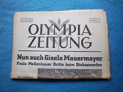 Orig.PRG / Newsletter  Olympic Games BERLIN 1936 - 05.08. / all Events  !!  RARE