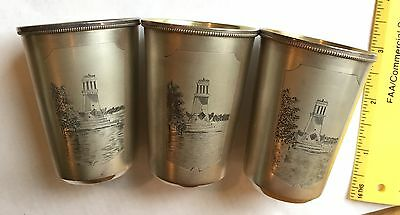 Silver Cups.. Set Of Three