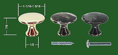 Accurate Factory Globe Wernicke® Macey Polished Drawer Base Knobs Beautiful!!!!!