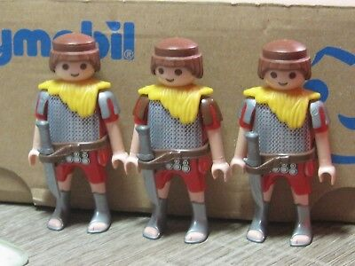 Lot 3 Playmobil Roman Empire Colosseum Theme Gladiators **good Condition***