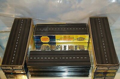 Aurora HO Slot Car Track 9 Inch, 23 sections all with pins and joiners