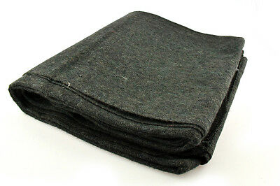 "Olive Green Wool Survival Blanket Emergency Camping Military Style 60""x80"" 70%"