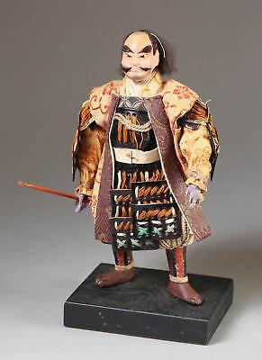 Fine Old Japanese Ningyo Textile & Wood Figure of a Warrior ca. 20th century #2