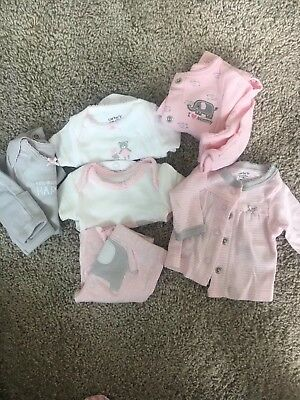 Preemie Carters girls outfit lot