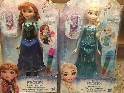 Hasbro - Disney Frozen Anna And Elsa Crystal Glow Dolls