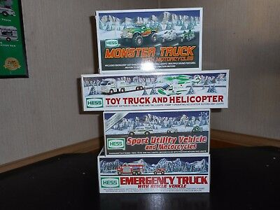 Hess Truck Lot Of 4 2004-2007 Excellent Pre Owned Condition