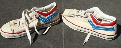 Rare Vintage Pro Model Pro Keds ? Hand Made USA Red Blue Shoes Excellent