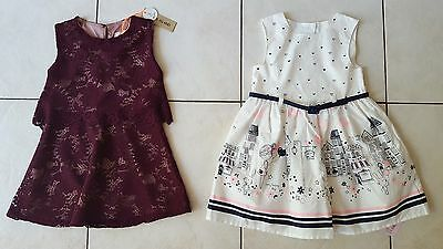 Brand New Baby Girl's Dresses Age 12-18 Months From River Island & Primark