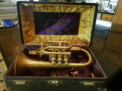 Early Model C.G. CONN Cornet  Elkhart Ind.
