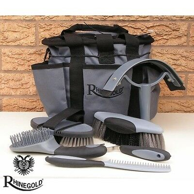 Rhinegold Soft Touch Grooming Kit With Bag – GREY – Great Present