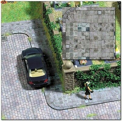 PAVED ROADWAY ~ HO SCALE CARD DECOR SHEETS by BUSCH #7418