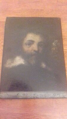Rare - Early Antique Portrait Of A 17Th Century Gentleman On Board