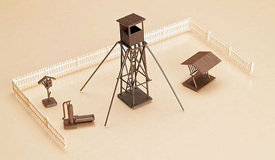 HUNTER'S TOWER plus ACCESSORIES ~ HO KITSET by AUHAGEN #42600 for model train