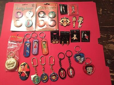 Betty Boop Earrings, Magnets, Keychains, Pill Box